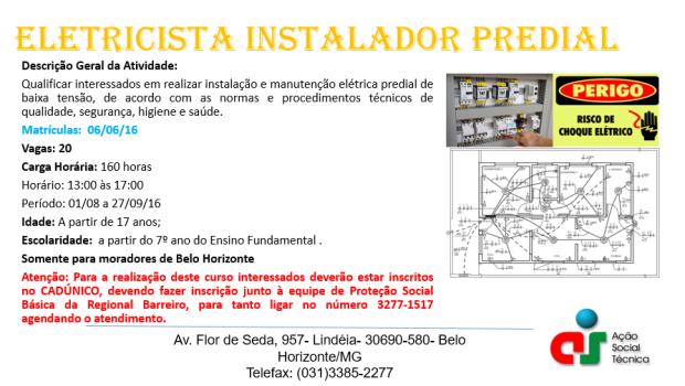 Matrícula Eletricista Instalador Predial